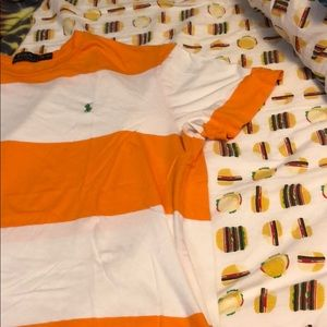 Polo by Ralph Lauren Shirts - Orange & white striped Ralph Lauren polo t-shirt